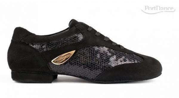 Fashion Sneakers mit Chromledersohle und sehr niedrigem Absatz