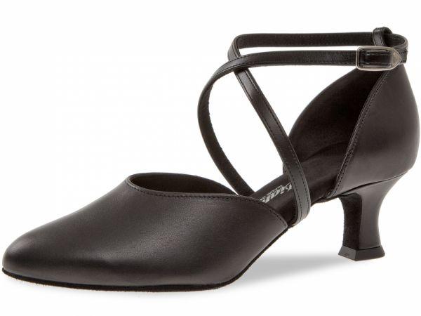 Damen Tanzschuhe Diamant Modell 48: geschlossene Sandalette mit Kreuzriemchen, 5 cm Absatz