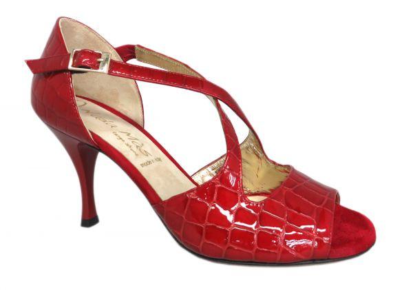 Damen Tanzschuhe Nada Mas Modell Martina Kroko rot