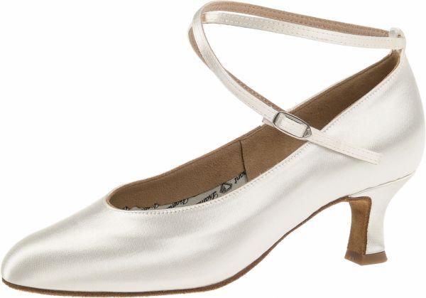 Damen Tanzschuhe Diamant Modell 75: Satinpums mit 5 cm Absatz, einfärbbar