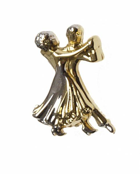elegante Brosche mit Tanzpaarmotiv