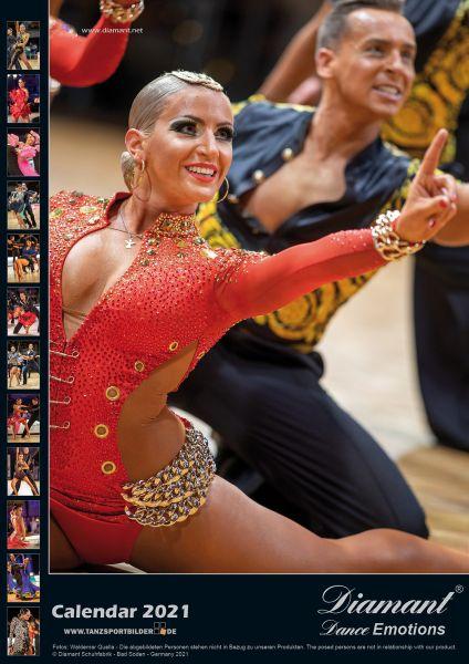 Diamant Tanz-Kalender 2021 12 großformatige, hochwertige Tanzsportfotos, das ideale Geschenk