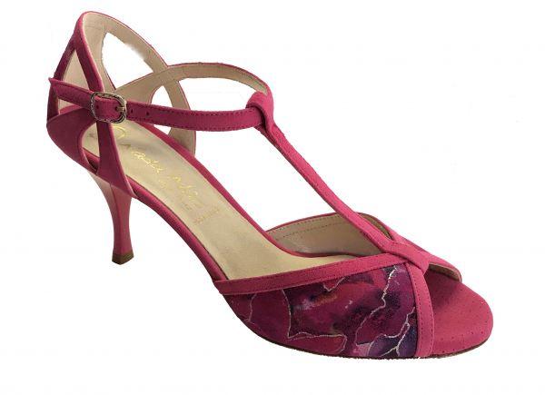 Damen Tanzschuhe Nada Mas Modell Monet pink, biegsame Glattledersohle